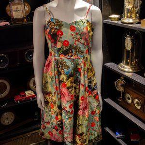 1861 Victorian Print Dress.  NWT